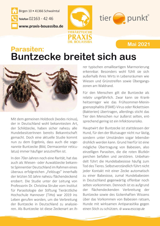 Tierpunkt Praxis Bouassiba Mai 2021